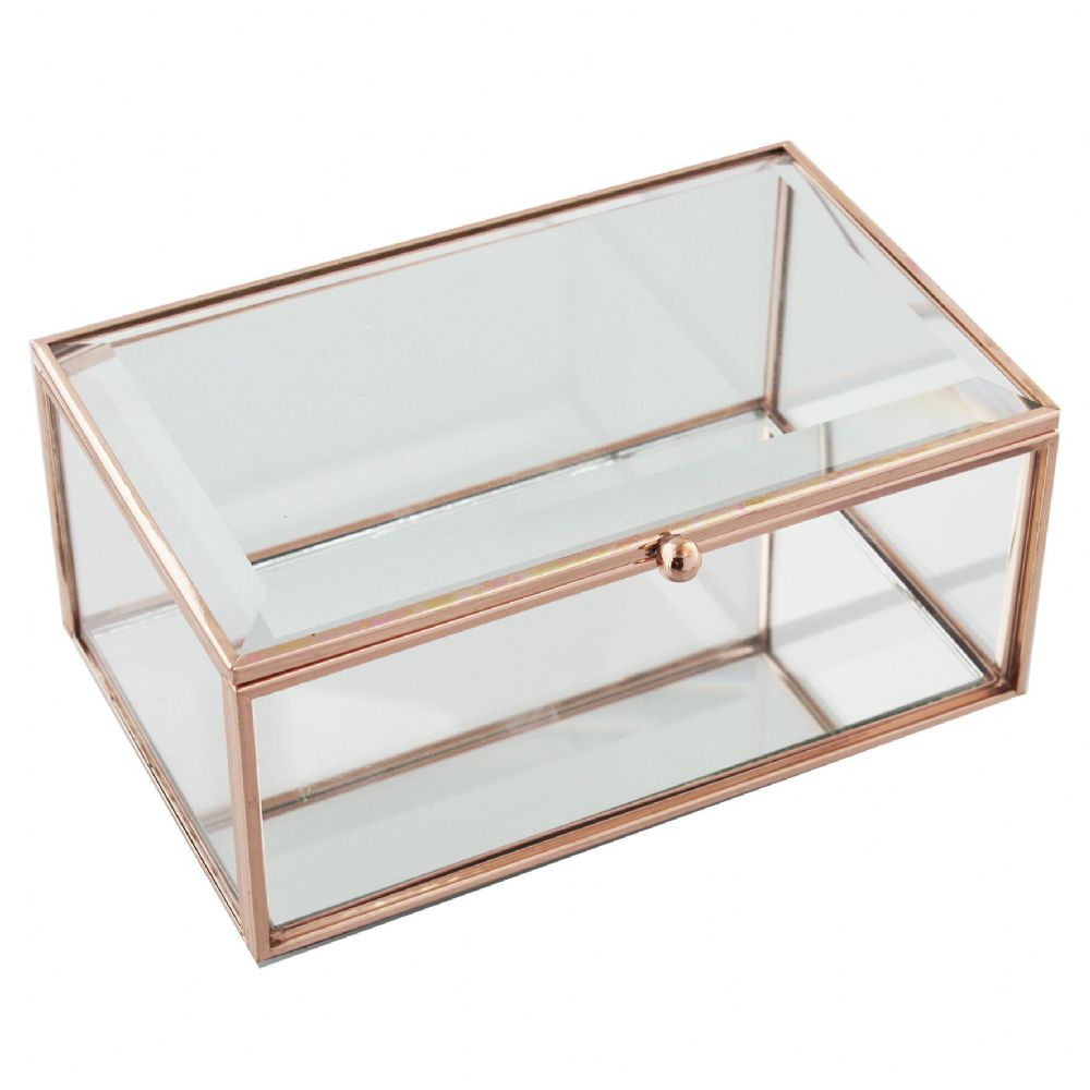 Rose Gold Jewellery Box Large (16x10cm)